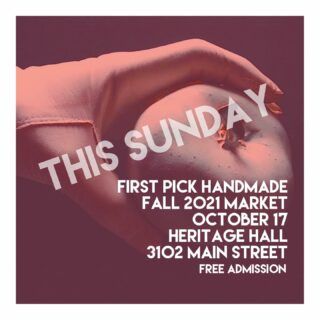 This Sunday from 11-5… our First Market in two years. Admission is free, masks and vaccine passports are mandatory (so we can keep doing events like this one). See you soon friends!